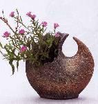 『瓦砂変形花器』