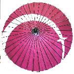 舞傘「松葉」(紙傘・一尺四寸 二本継ぎ)