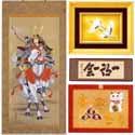 掛軸・絵画,掛軸・日本画・水墨画や、各種額を取り扱っております。七宝額,彫金額,掛軸,蒔絵額,大入額,欄間額