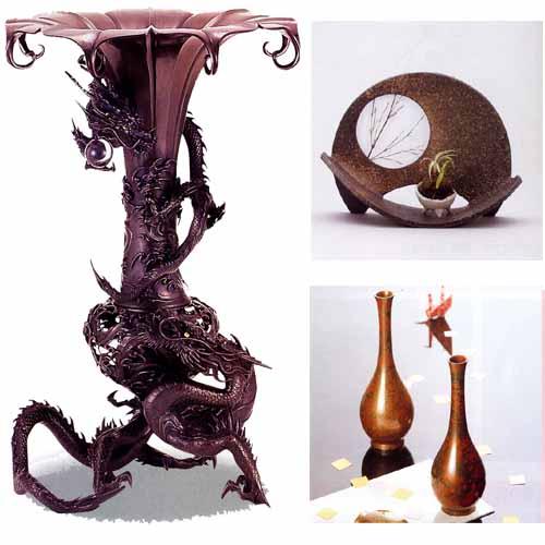 花瓶・薄端,銅製花瓶,合金製花瓶,薄端,香炉などを取り揃えているコーナーです。銅製花瓶,合金製花瓶,銅製網代花瓶,銅製蒔絵花瓶,九谷焼,信楽焼,薄端,香炉,アルミその他,花台
