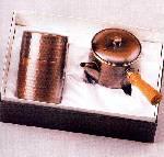 純銅槌目茶器セット ZS-7